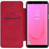 Nillkin Protective Case For Samsung Galaxy J8 2018 Auto Sleep Card Slot Flip PU Leather Cover