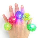 5 SZTUK LED Miga Elastyczna Gumka Mrugająca Truskawka Ring Ring Dekoracje Zabawki