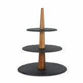 Sushi Sashimi Houten Rock Tray Dessert Cake Diner Cupcake Display Holder Stand