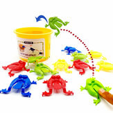 13PCS Kids Toys Jumping Game Bouncing Frog Hopper Party Favor Educazione di compleanno