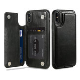 KISSCASE Retro PU Leather Card Slots Bracket Case for iPhone X 8/8 Plus/7/7 Plus/6/6s/6 Plus/6s Plus
