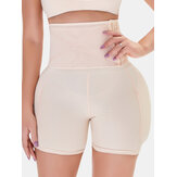 Plus Size Women Front Closure Hip Lifting Air Cushion Stitching High Waist Shapewear Shorts