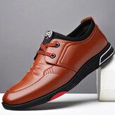 Męskie Soft Skóra bydlęca Wygodne wodoodporne sznurowane buty biznesowe