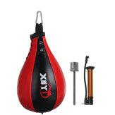 Couro PU Boxe Punching Bola Inflável Boxe Pêra Velocidade Exercício Bolsa Double End Boxing Speed Ball