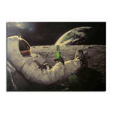Astronauts and Cola Poster Kraft Paper Wall Poster DIY Wall Art 21 inch X 14 inch