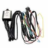 12V DRL Dimmer LED Dimming Relay Daytime Running Light Car On/Off Switch Harness With Flash Turn Signal Delay Function