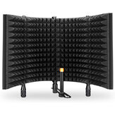 AIMEIYIN 5 Foldable Panels Microphone Soundproof Cover Mic Isolation Shield Noise Reduction Windproof Screen Filter for Live Recording Studio