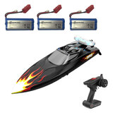 Eachine EBT04 Several Battery RTR 2.4G 4CH 40km/h Brushless RC Boat Vechicles Models w/ Colorful Lights Water Cooling System