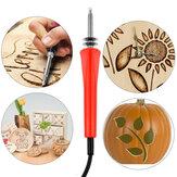 7 ADET Elektrikli Odun Yanan Parçalar Kit Zanaat Set Lehimleme Pyrography Sanat Kalem İpuçları