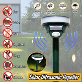 Solar Ultrasonic Deterrent Repellers Animal Snake Rat Mouse Yard Pest Control