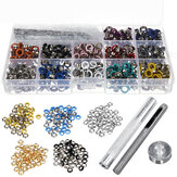 540PCS Grommets Set Durable Clothing Metal Eyelets Button With Installation Tools