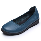 SOCOFY Pure Color Comfortable Soft Sapatos Flats