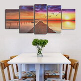 Frameless Modern Canvas Picture Houten Path Oil Painting Home Wall Decoration