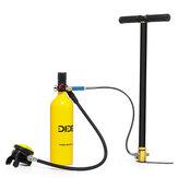 DIDEEP 1L draagbare scuba tank duik zuurstof duikuitrusting + inflator pomp kit