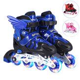 S/M/L Inline Skates with 4 LED PVC Skate Wheels  Entry-level Kid Women Men Roller Skates Birthday Gift for Teen Girl Boy Teenager