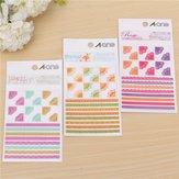 3個の韓国シンプルなライフペイント日記ステッカー日記ブックアルバムの装飾
