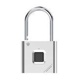 Visací zámek ENNIO Smart Fingerprint Prachotěsný a vodotěsný USB Nabíjení 90g Longstandby Fingerprint Unlock