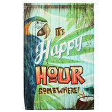 12x18 Inch lente papegaai Happy Hour tuin vlag Mini Yard Banner weergave Home Decorations