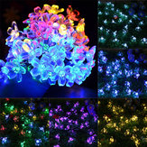 Słoneczny Blossom Flower Fairy String Light 23FT 50DOPROWADZIŁO Home Garden Wedding Decor