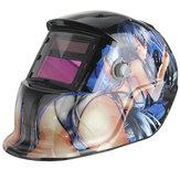 Красивая девушка солнечный авто затемнение дуги TIG сварки МИГ шлифовальные шлем сварщика маски