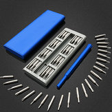 25 in 1 Multi Tool Magnetic Screwdriver Set Repair Kit with Alloy Case Blue