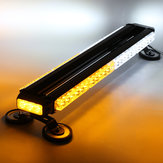 26Inch 162W LED Emergency Warning Lights Bar Double Side Flash Strobe Lamps 12V Yellow+White