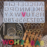 224Pcs Keychain Making Kit Jewelry Number Alphabet Silicone Mould Key Rings Jump Rings Twist Drill Screw Eye Pins Set