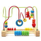 Toddlers Bead Maze Roller Toys Bambini in legno Abacus Beads Gioco Preschool Educational Toy Gift for Boys Girls Baby