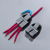 6C-4 14-13AWG 2.5sqmm 6 Wires Interconnected Non-stripped Extended Cable Wire Connectors Quick Splice Terminals Block