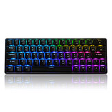 Geek GK64 64 Key Gateron Switch Hot Swappable CIY Switch RGB bakgrundsbelyst Mekanisk Gaming Keyboard