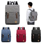Men Women Casual Canvas Laptop Backpack Travel Rucksack Student Shoulder Bags
