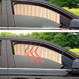 Universal Summer Satin Auto Seitenscheibe Sonnenschutz Vorhang Sonnenblende Jalousien Abdeckung UV Protector Auto Styling