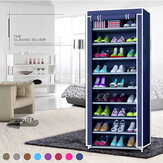 10 Tier DIY Shoe Rack Portable Storage Cabinet Organiser Wardrobe Dustproof