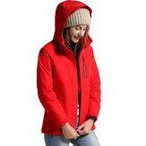 Frauen Winter wasserdicht USB Infrarot Heizung Kapuze Daunenjacke elektrische Thermokleidung Mantel für Sport Klettern Wandern