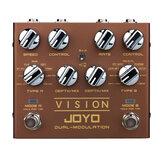 JOYO R-09 Vision Çok Etkili Gitar Pedalı Çift Kanal Modülasyon Pedalı Desteği Stereo Giriş ve Çıkış 9 Efekt Gerçek Bypass