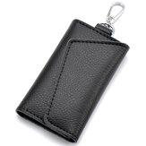 SacencuirdevoitureKey Case Case Hommes Porte-clés Porte-organisateur Pochette Vache Split Mini Wallet Card Bag