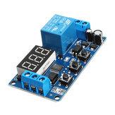 Botão de atraso do gatilho de pulso ajustável Módulo de controle do relé do interruptor de atraso do temporizador