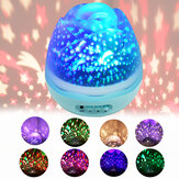 8-Modes Rotating Projector Starry Night Lamp Star Sky Projection LED Gifts Home