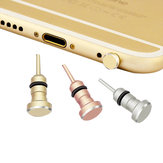 2-in-1 Metal Dust Plug Earphone Port Sim Card Tray Eject Pin Needle For iPhone 6 Android Smartphone