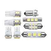 8 Unidades 1156 T10 Adorno LED Coche Interior Dome Mapa Luces Licencia Placa Bombilla Lámpara Kit Blanco