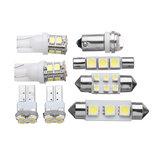 8Pcs 1156 T10 Festone LED Car Interior Dome Map Lights Licenza Piatto Lampadina lampada Kit bianco