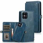 Bakeey para iPhone 12 Mini Caso 2-em-1 flip magnético removível com slot para vários cartões Carteira PU de couro protetora Caso