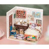 Robotime DGM08 DIY بيت الدمية اليدوية الخشبية الجمعية نموذج آن غرفة نوم موضوع بيت الدمية مع الأثاث