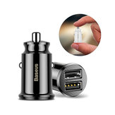 Baseus 3.1A Dual USB Ports Smart Fast Car Charger With LED Indicator For Smart Phone Tablet Camer