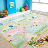 Carro impermeável piso bebê jogando tapete tapete infantil bebê crianças rastejando jogo tapete