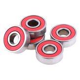 10Pcs Red 608RS Kugellager Skateboard Lager C3 Hochgeschwindigkeit für Elektromotor