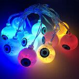Halloween LED Luzes de corda Luzes de decoração Branco quente para acessórios de decoração de casa de Halloween
