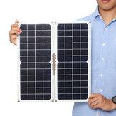 2Pcs 20W 16V 1.25A silicio monocristallino giunzione posteriore Scatola solare pannello + 4 x primavera + cavi