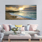 Beach Canvas Print Ocean Wave Sunset Sea No Frame Paintings Art Wall Home Decor