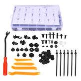 Rebites de plástico para pára-choques de pára-choques de carro e prendedores de fivela e kit aberto de rádio para painel